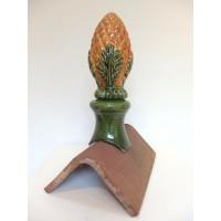 Epi de faîtage ananas en couleur