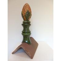 Epi de faîtage ananas en couleur pour faîtage angulaire (faîtage 1/2 ronde sur demande) en trois éléments. Hauteur 45cm