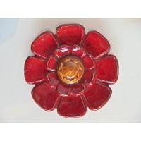 Fleur cabochon n°23 rouge